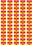 Hampshire Flag Stickers - 65 per sheet